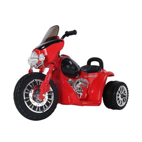 moto lectrique pour enfants chopper police 6 v env 3 km h 3 roues effet lumineux et sonore. Black Bedroom Furniture Sets. Home Design Ideas